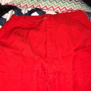 Red Linen Pants
